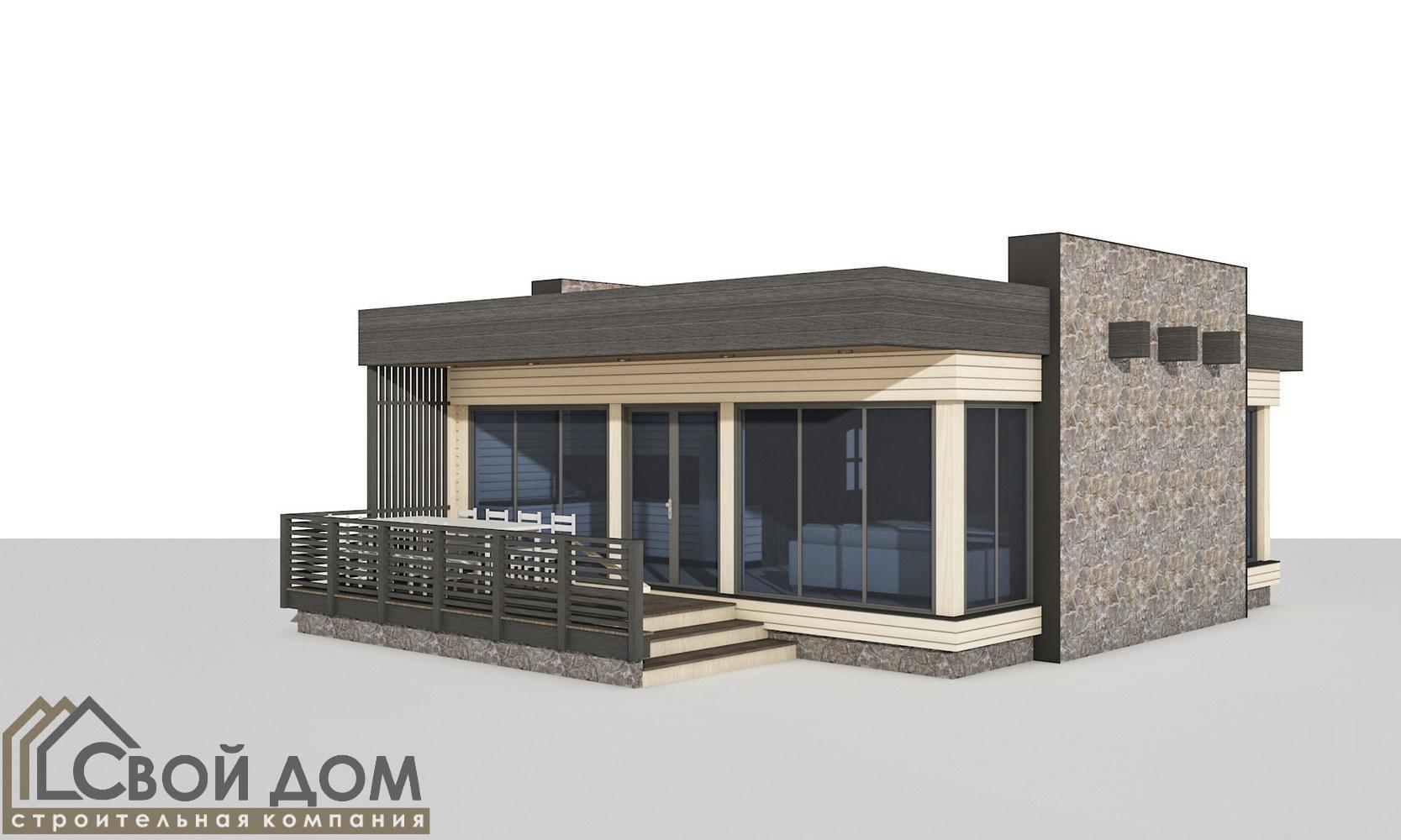 Проект дома 75м2